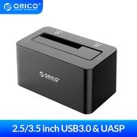 Док-станция ORICO для жесткого диска USB 3,0 на SATA док-станция для жесткого диска 2,5/3,5 дюйма HDD Box 12V 2A адаптер питания Поддержка 18 ТБ