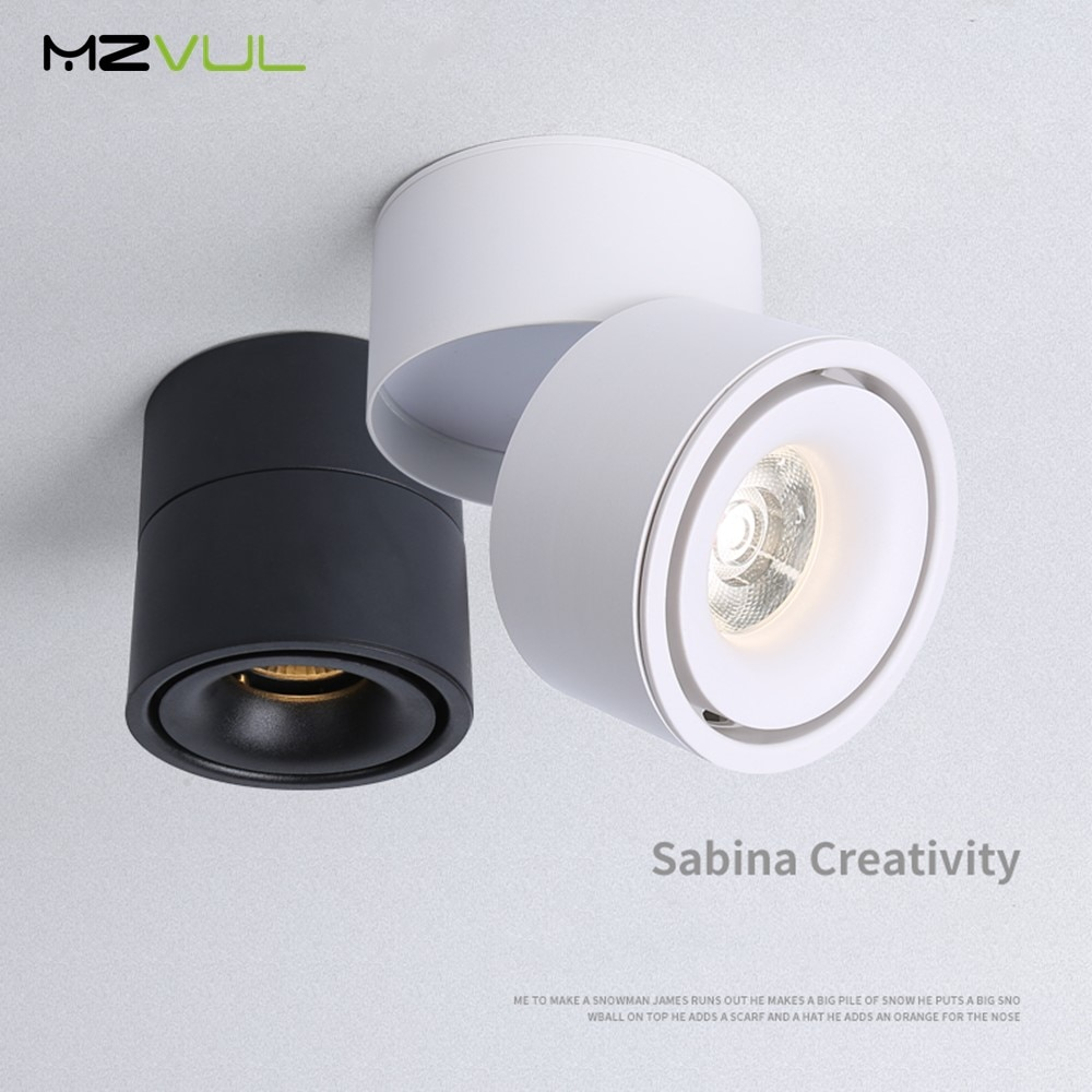 aisilan square led surface mounted cube ceiling downlight for room corridor hallway ac85 260v cob design spot light Surface Mounted LED downlight 7W 15W Ceiling Lamps 360 degree Adjustable cob led spot lights AC 90-260V Ceiling Fixtures Light