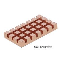 32x18MM M.2 SSD 2260 NGFF 2242 ordinateur portable solide disque dur Ultra-mince cuivre aileron refroidissement refroidisseur radiateur 2/3/4mm