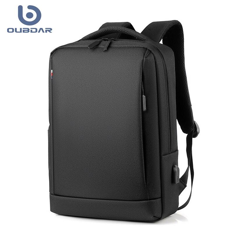 Рюкзак OUBDAR мужской для ноутбука, водонепроницаемый ранец в деловом стиле, зарядка через USB, дорожная сумка унисекс, 2020 | АлиЭкспресс
