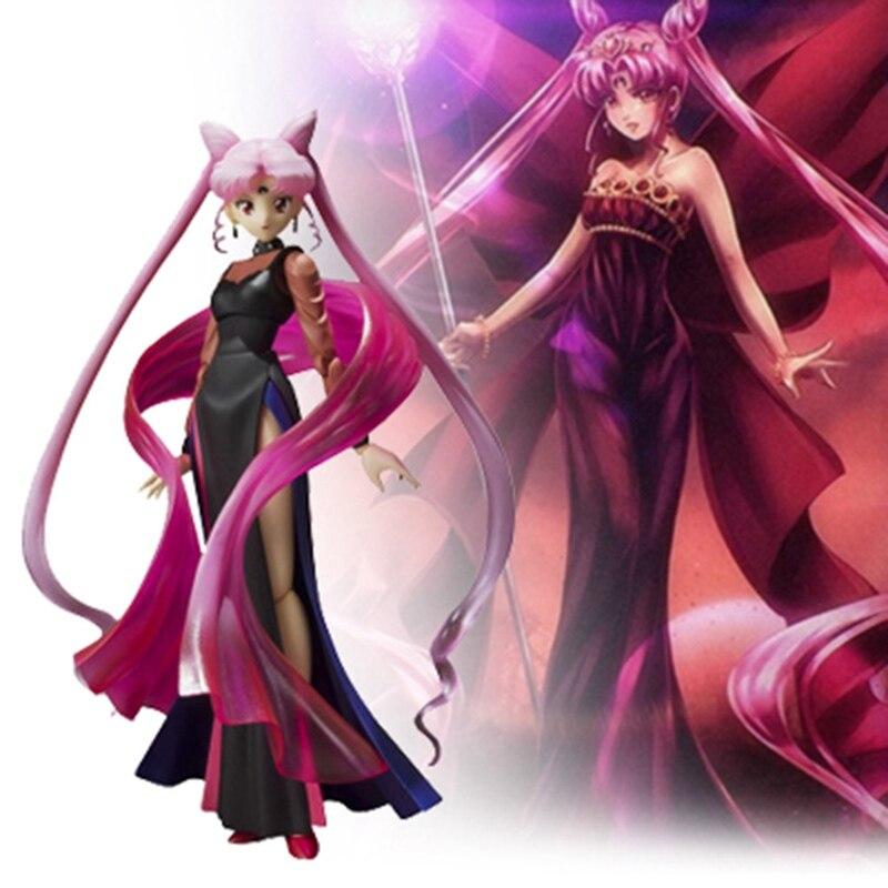 Black Lady Anime Sailor Moon Action Figure Movable Dark Princess Collection Model Toys 15 cm