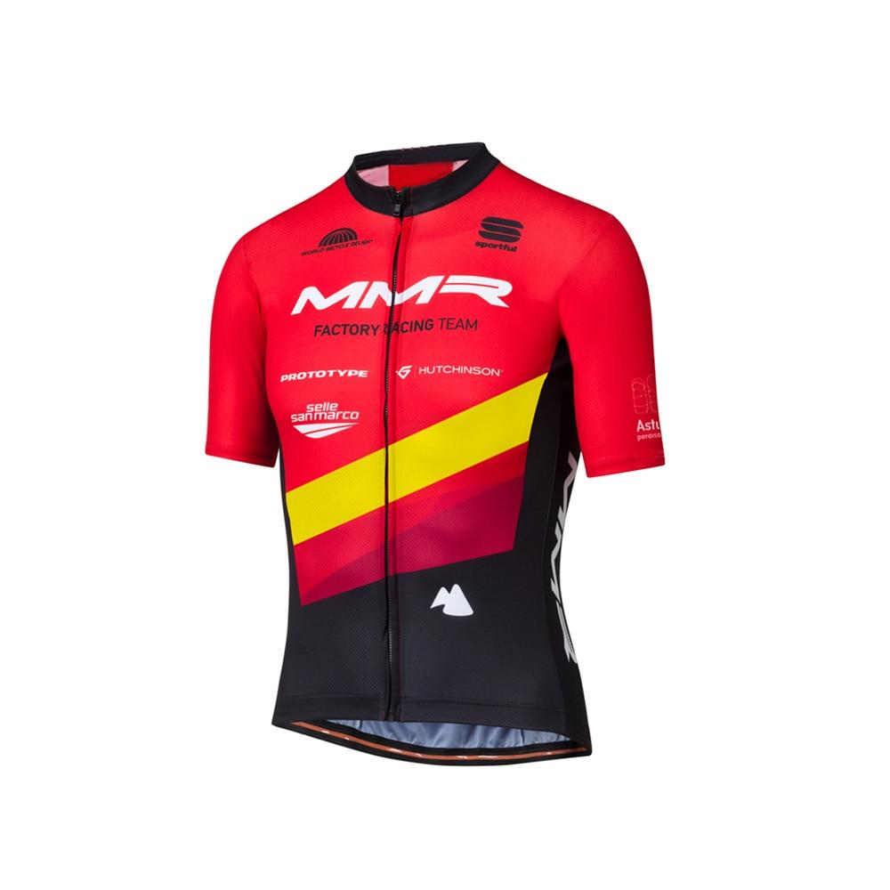 Camisetas DE equipo DE ciclismo profesional para hombre, MAILLOT DE manga corta y pantalón corto, MMR, FRT, CAMPEÓN DE ESPAÑA