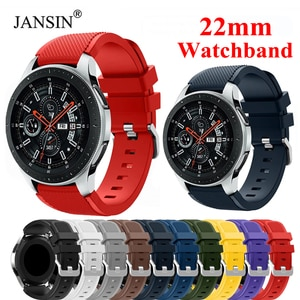 22mm Silicone Band For Samsung Galaxy Watch 3 45 46mm S3 Strap For Huawei Watch GT GT2 GT2E Huami Amazfit GTR 47mm Correa strap