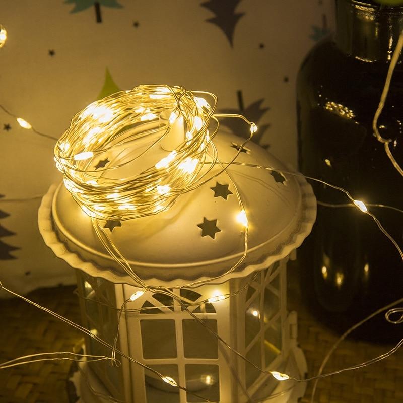 2 м 5 м 10 м жарық диодты шамдар күміс - Мерекелік жарықтандыру - фото 5