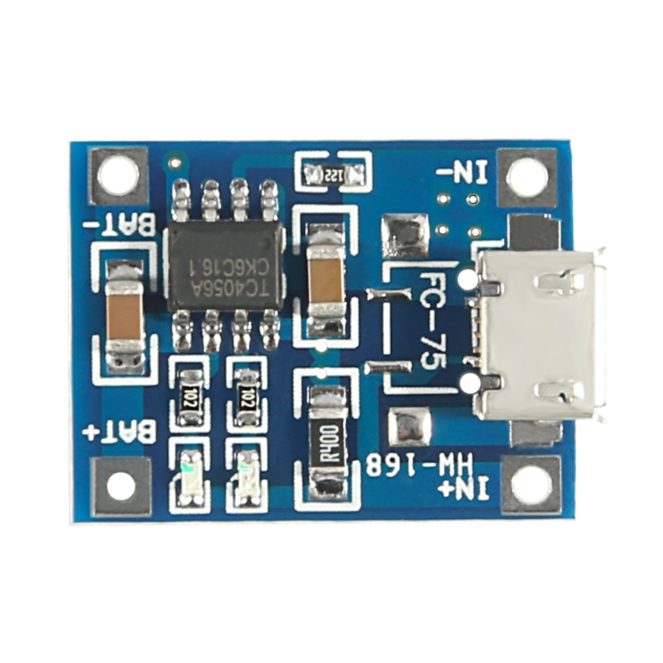 Фото - 10pcs/lot Micro USB 5V 1A 18650 TP4056 Lithium Battery Charger Module Charging Board With Protection Dual Functions 10pcs 5v 1a type c usb 18650 lithium battery charging board charger module protection dual functions tp4056 module charging