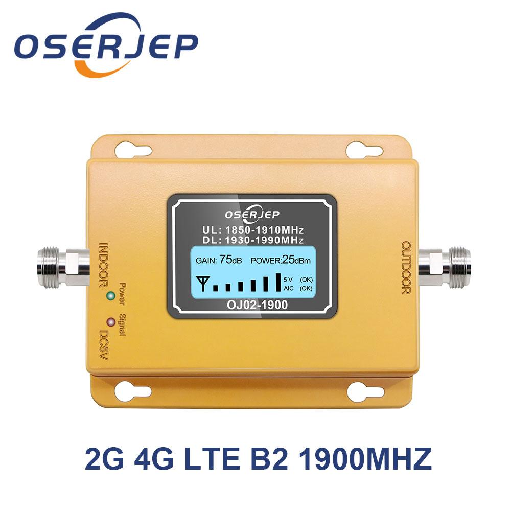 2G 4G LTE усилитель сигнала 70 дБ 4G LTE 1900 МГц Усилитель мобильного сигнала Band2 Lte усилитель сигнала сотового телефона без антенны
