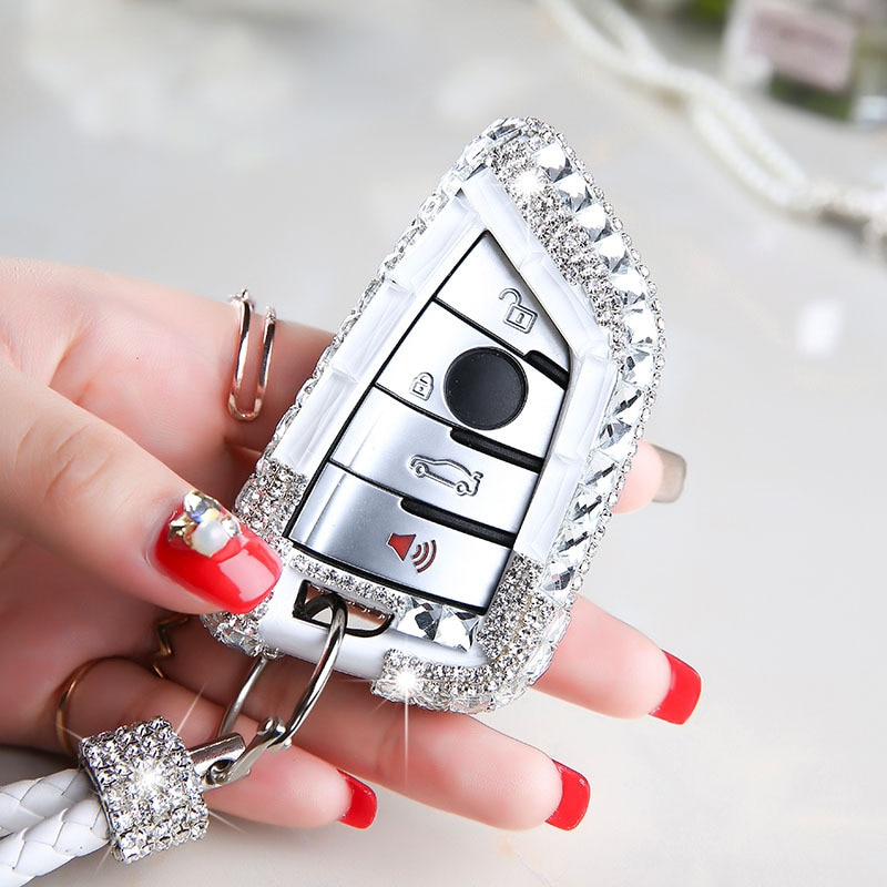 Auto Schlüssel Fall Schlüssel Abdeckung Schlüssel Shell Kristall Diamant Beschützer für BMW X5 F15 X6 F16 G30 7 Serie G11 x1 F48 F39 Auto Styling