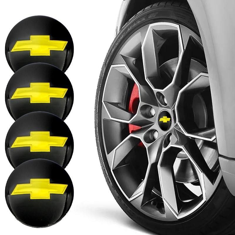 Черные наклейки втулки колеса автомобиля из углеродного волокна для Chevrolets Cruze Captiva Lacetti Aveo Niva Trax Onix аксессуары для украшения автомобиля