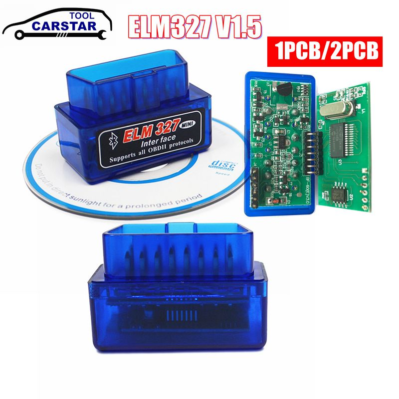 MINI PIC18F25K80 ELM327 V1.5 Bluetooth ELM 327 v1.5 OBD2 Scanner Diagnostic adapter scan tool OBD OBDII Code reader