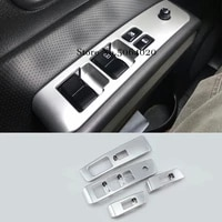 abs matte glass switch door window button decoration panel cover trim car styling for nissan x trail x trail t31 2008 2013 4pcs