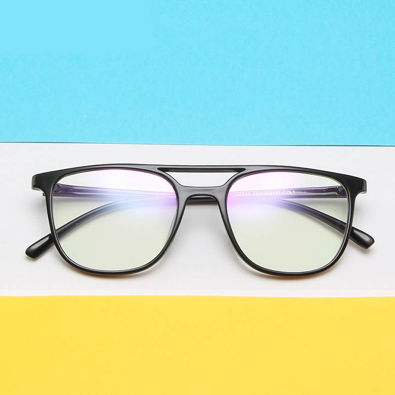 Óculos de leitura de grandes dimensões quadrados quadro masculino ultra-leve retro computador óculos de olho quadros para mulher uv400 quadro