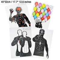 1020pcs slingshot archery shooting target paper 4532cm shoot practice target papers for airsoft bb paintball gun training