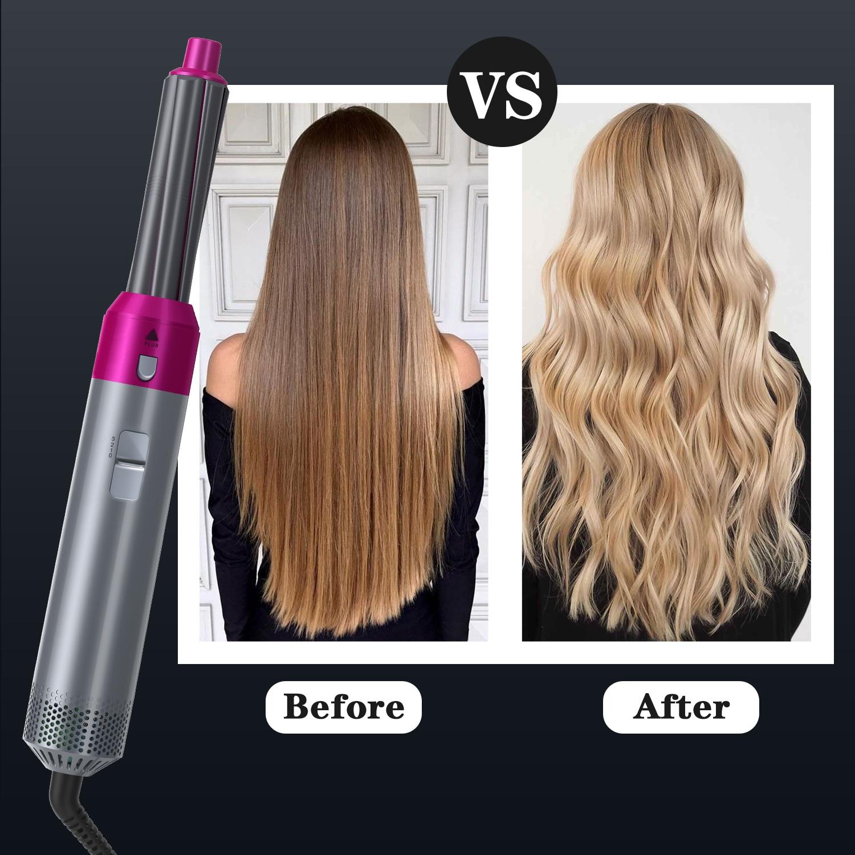 5 In 1 Hair Dryer Hot Air Brush Styler and Volumizer Hair Straightener Curler Comb Negative Ion One Step Hair Dryer Brush 2021 enlarge