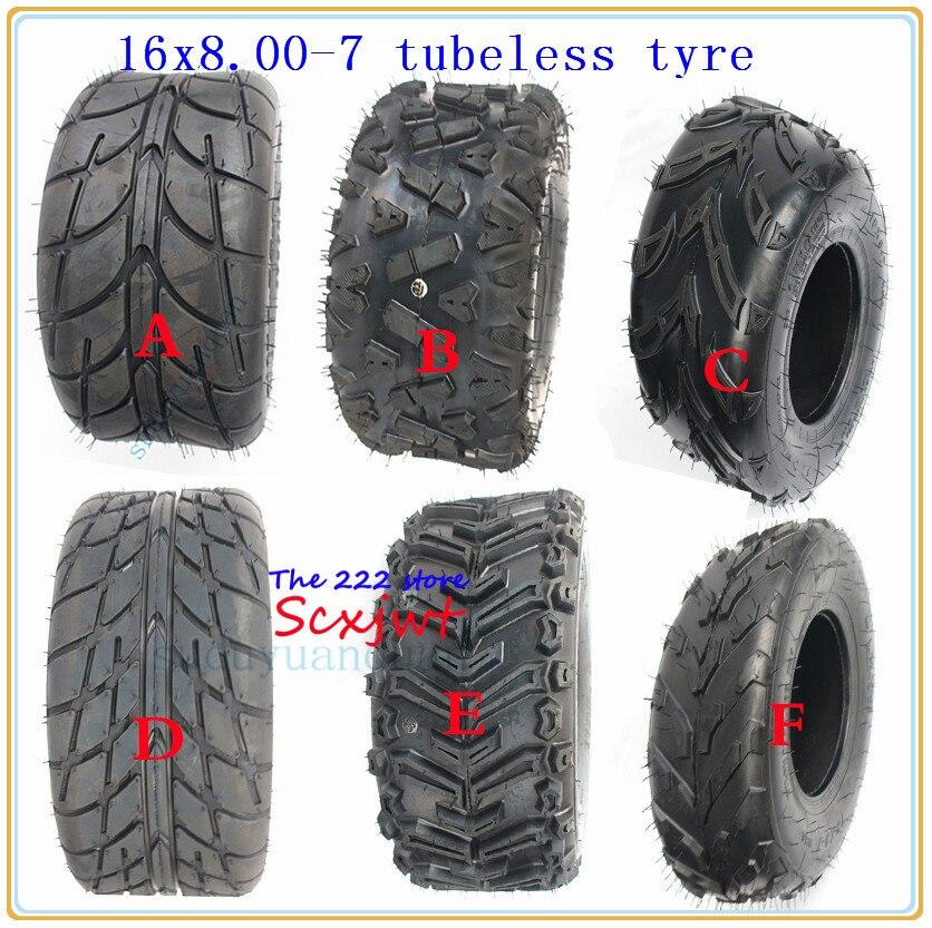 16X8-7 (200/55-7) kart Auto Teile 7 inch ATV Reifen 16X 8,00-7 16*8-7 Autobahn Reifen Off- straße reifen Tragen-beständig Rad Reifen