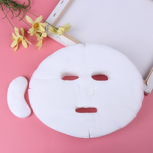 100pc Сделай Сам мягкого нетоксичного одноразовая маска для лица из чистого маски для лица лист Красота инструменты из дышащего хлопка для лица Уход за кожей лица маска лист Бумага