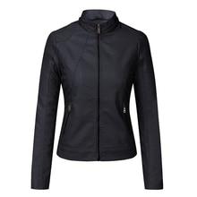 2020 herbst feste cashmere PU leder jacke plus größe mit kapuze stehkragen schlank outwear weibliche casual mäntel veste en cuir femme