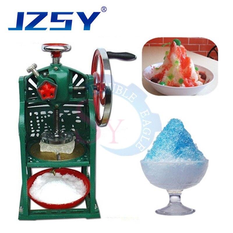 Gran oferta manual profesional trituradora de hielo de afeitar bloque de hielo máquina de afeitar de mano hielo helicóptero batido de la máquina