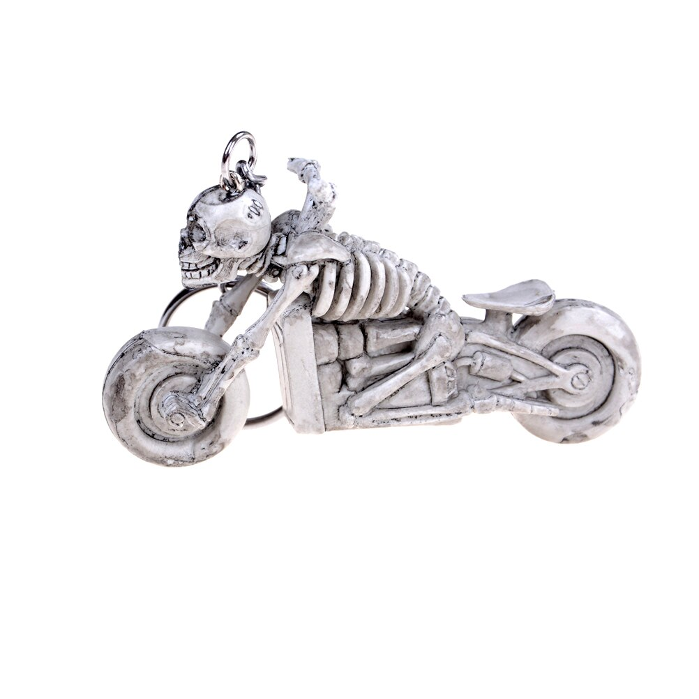 1pc Skull Motorcycle Toy Gift Skull Keychain Vintage Rubber Devil Death Monster Pirate Trinket Motor Car toy