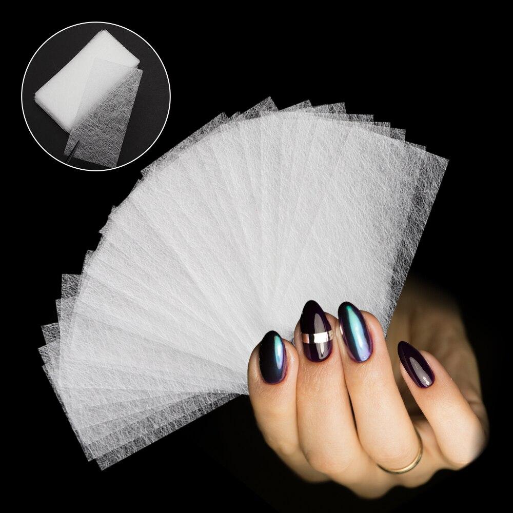 30 unids/lote de fibra de seda no tejida extensión de fibra de vidrio edificio UV Gel barniz Reparación de uñas rotas acceso DIY hoja de fibra extendida