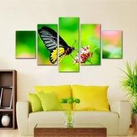 Affiche de papillon a la mode  decoration de la maison  salon  chambre a coucher  arriere-plan  Art mural  peinture suspendue sans cadre  5 pieces
