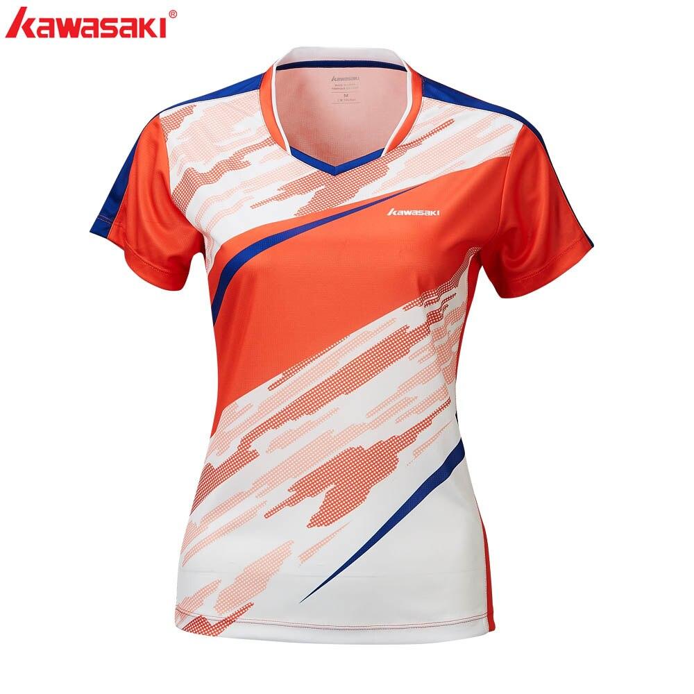 2020 Kawasaki Badminton Clothes Sportswear Shirts For Female V-Neck Breathable Tennis T-Shirt For Women  ST-R2211