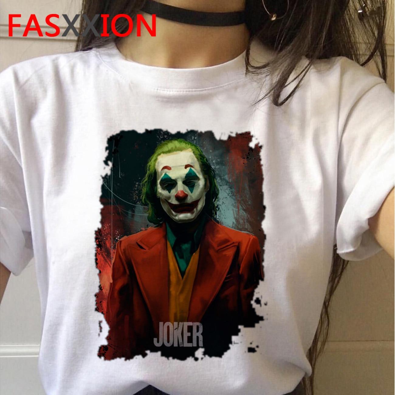Camiseta de halloween coringa feminino camiseta femme horror plus size streetwear tshirt natal camisetas gráficas