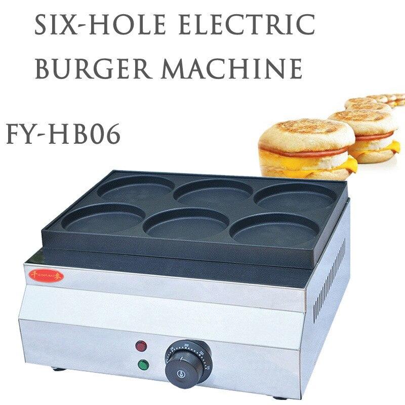 الكهربائية البيض برغر آلة 220 فولت/الغاز 6/9 ثقوب كبيرة قطرها غير عصا عموم الفاصوليا الحمراء الفطائر عجلة الكعك عربة طعام شوارع التجارية