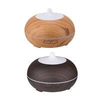 Diffuseur dhuiles essentielles et darome de Grain de bois  purificateur dair a 7 couleurs  humidificateur dair pour maison hotel  500ml