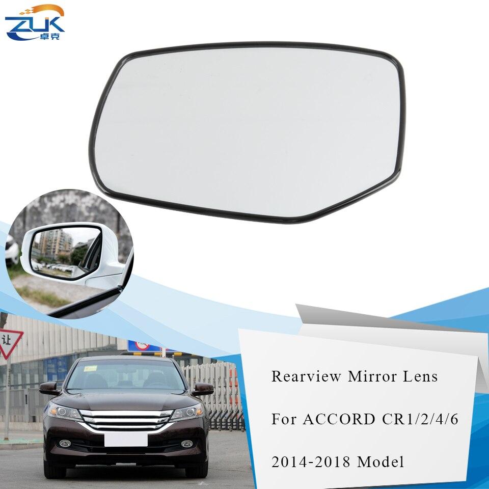 ZUK, izquierda derecha, Auto climatizada espejo retrovisor exterior lateral de la lente de cristal para HONDA ACCORD 2014, 2015, 2016, 2017, 2018 CR1 CR2 CR4 CR6