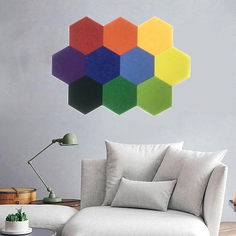 2020 новая шестиугольная 9 мм фетровая Полиэстеровая ткань Нетканая жесткая дизайнерская сделай сам ручная работа Ins горячее украшение для дома текстура войлок для стены