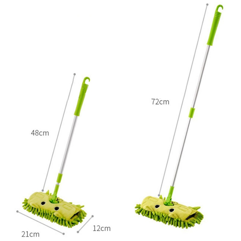 Child Spin Mop Broom Dustpan Set Baby Mini Sweeping House Cleaning Toys Set Telescopic Tablet Drag Pretend Play  Sweeper enlarge