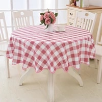 1pcs flower style round tablecloth waterproof and oil proof round coffee table dining table small retro tablecloth decoration