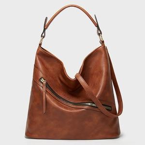 Fashion Women Soft PU Leather Handbags Luxury Lady New Hand Bags with Purse Pocket Women Messenger Bag Big Tote Sac Travel Bags