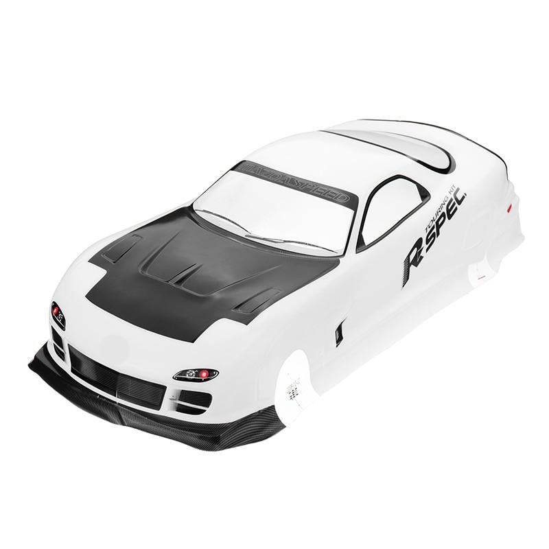 Kit de carcasa de coche 1/10 RC, 190mm 1 10 carrocería de coche a la deriva en la carretera carcasa de PVC pintada para Mazda RX-7 Tamiya accesorios para coches de control remoto
