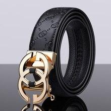 Luxury Vintage Designer  Belt Automatic Buckle Men High Quality Women Genuine Real Leather Dress Str