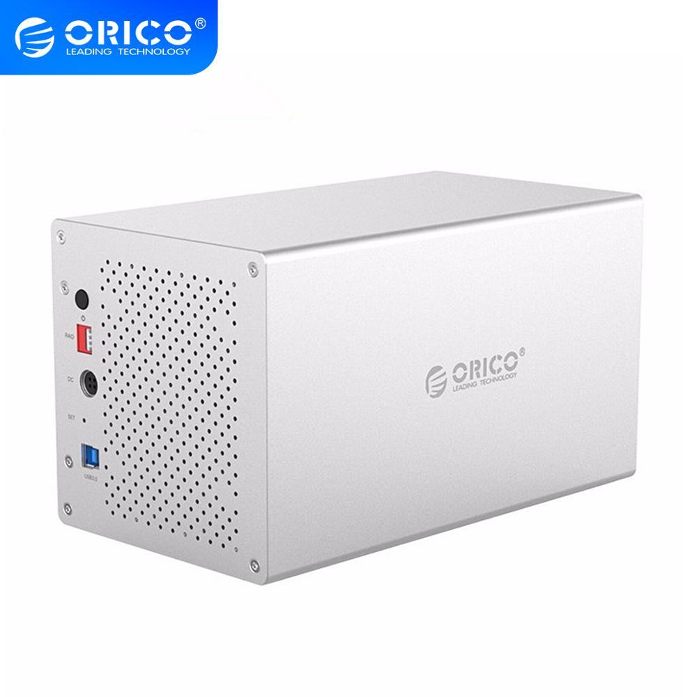 ORICO العسل سلسلة 3.5 بوصة 4 خليج الألومنيوم سبائك USB3.0 القرص الصلب ضميمة مع Raid ، دعم قدرة 4*10 تيرا بايت HDD ، WS400RU3