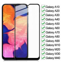 9D Full Tempered Glass On For Samsung Galaxy A10 A20 A30 A40 A50 A60 A70 Screen Protector A80 A90 M1