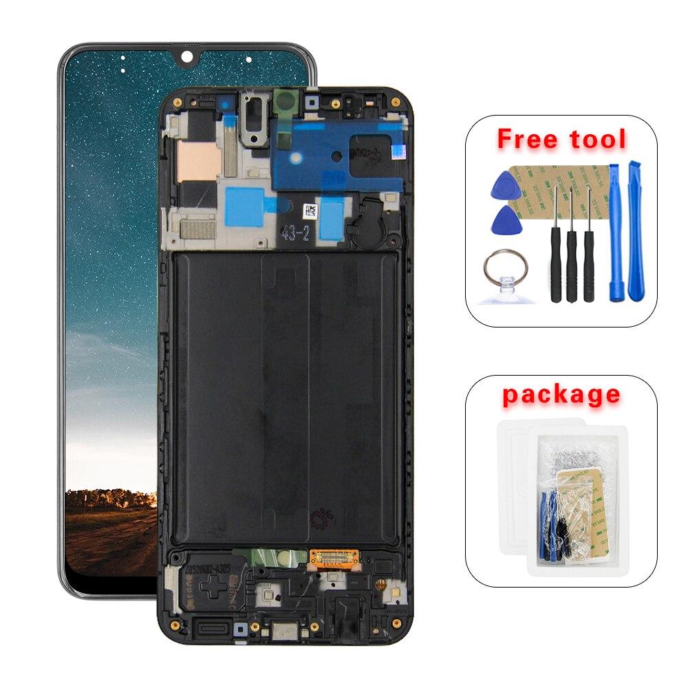 Para Samsung Galaxy A50 SM-A505FN/A505F DS/DS A505 LCD Screen Display Toque Digitador Assembléia Com Frame
