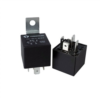 100PCS High Quality Automobile relay JD1914/JD2914 JD1912/JD2912 DC 12V/24V 40A  car relay 4pin 5pin  with Square iron piece