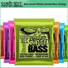Cordes de basse Ernie Ball hybride Slinky nickelé antirouille 5 4 cordes de basse Instruments de musique
