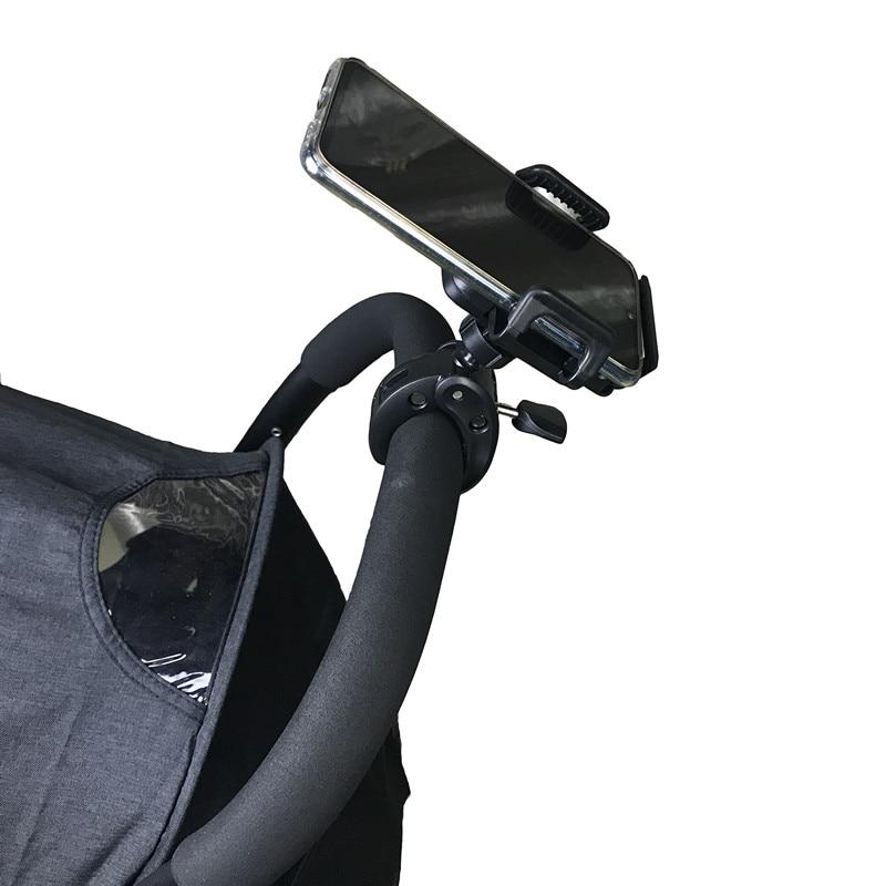 Baby Stroller Cell Phone Holder 360 Degree Rotate Universal Clamp Pram Wheelchair Aeecssory Mount Br