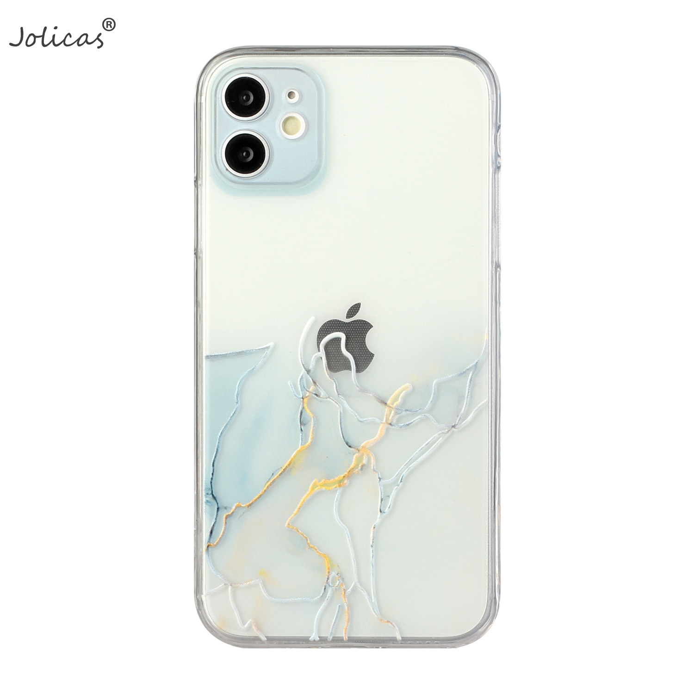 Funda protectora de TPU suave para teléfono móvil Apple, funda de lujo...