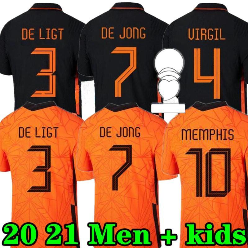 MEMPHIS 2021 Netherlands Soccer Shirt DE JONG Holland DE LIGT STROOTMAN VAN DIJK VIRGIL 2022 Nederland Football Jersey недорого