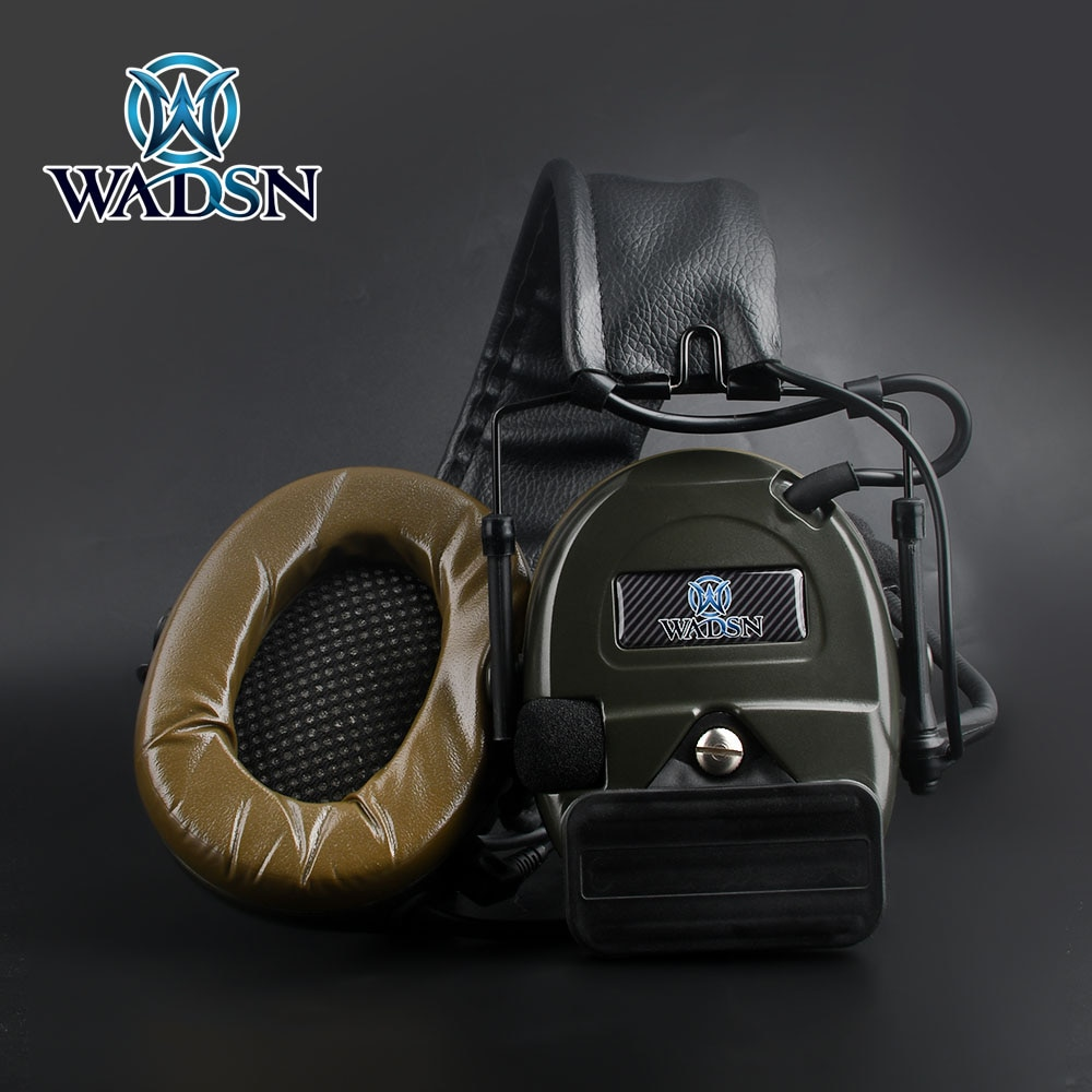 WADSN Tactical Comtac I Headset Noise Cancelling & Pick Up Version with UP94  PTT Kenwood Shooting CS Wargame C1 Headset
