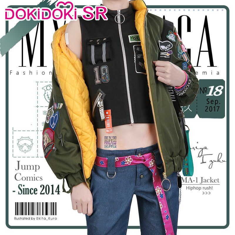DokiDoki-SR Anime Cosplay Boku No Hero Academia mi héroe Academia Cosplay Izuku Midoriya Cosplay traje Doujin Deku traje