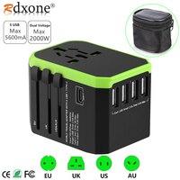 Rdxone Plug Adaptor travel adapter Universal Power Adapter Charger for US UK EU AU wall Electric Plugs Sockets Converter
