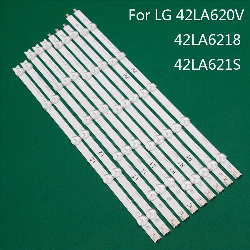 شريط إضاءة تلفزيون LED ، مسطرة خطوط الإضاءة الخلفية 42 بوصة ، لـ LG 42LA620V 42LA6218 42LA621S ، ROW2.1 Rev 0.01 L1 R1 R2 L2