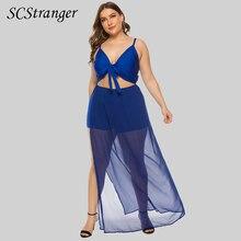 Y2k Suspender Summer Dress Plus Size Clothing Fat Mm Chiffon Solid Color Traf Maxi Dress Bow Sexy Tu