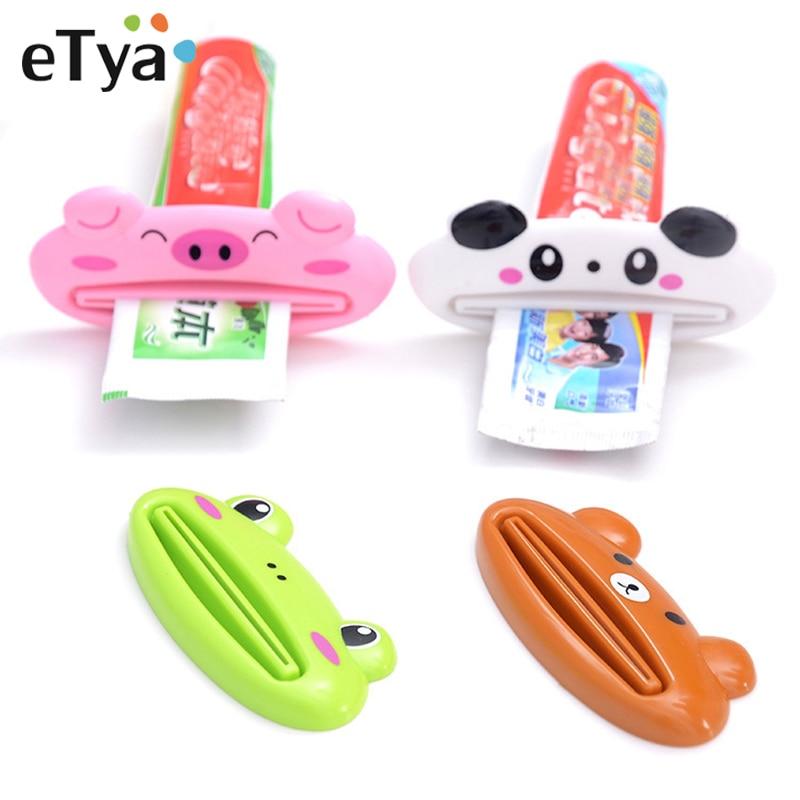 eTya Travel Accessories Portable Multifunction Cartoon Cosmetic Toothpaste Extruder Unisex Organizer Wash Accessories Tools