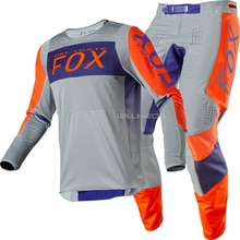 Grau Orange Zarte Fuchs 2020 Roller Moto Racing 360 Linc Motocross Erwachsene Getriebe Set Combo MX SX Off-Road anzug Herren Kit